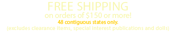 FREE SHIPPING on orders over $150!